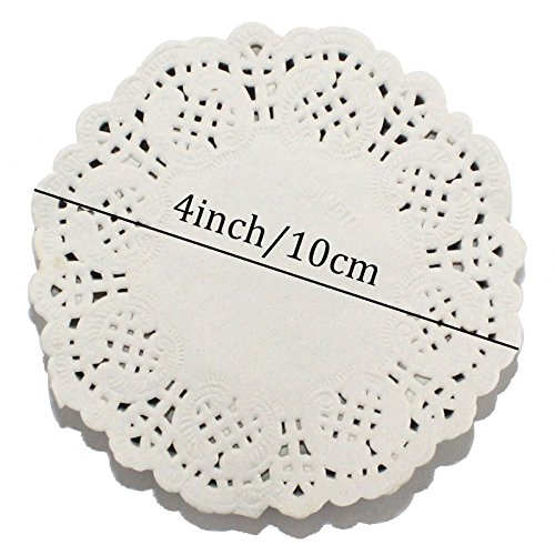 CCINEE ドイリー レースペーパー 4inch/10cm 丸型(200枚入)